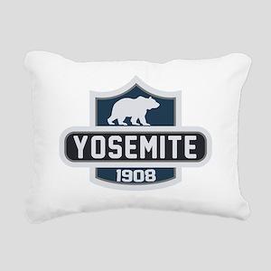 Yosemite Blue Nature Cre Rectangular Canvas Pillow