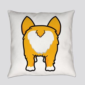 Happy corgi wiggle puppy dog butt Everyday Pillow