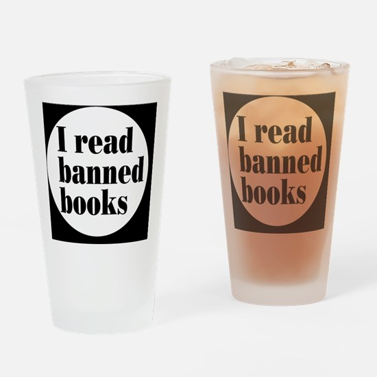 bannedbooksbutton Drinking Glass