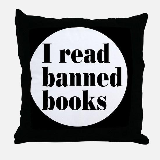 bannedbooksbutton Throw Pillow