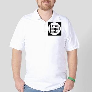 bannedbooksbutton Golf Shirt