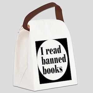 bannedbooksbutton Canvas Lunch Bag