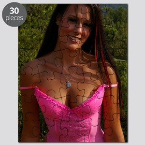 Former Cover Girl Emily Harris Sexy Lingeri Puzzle