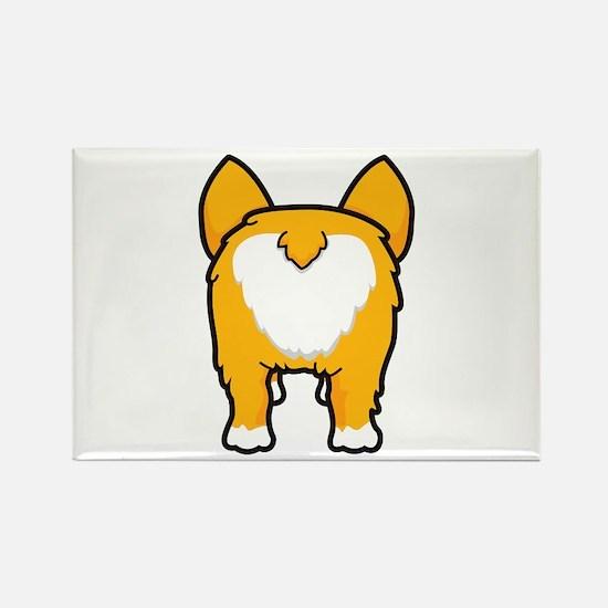 Happy corgi wiggle puppy dog butt Magnets