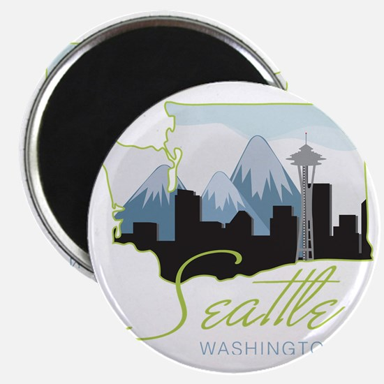 Seatle  Washington Magnet