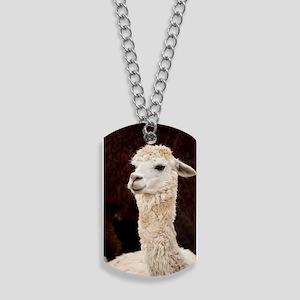 White Llama Dog Tags