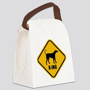 Dogs Crossing Canvas Lunch Bag