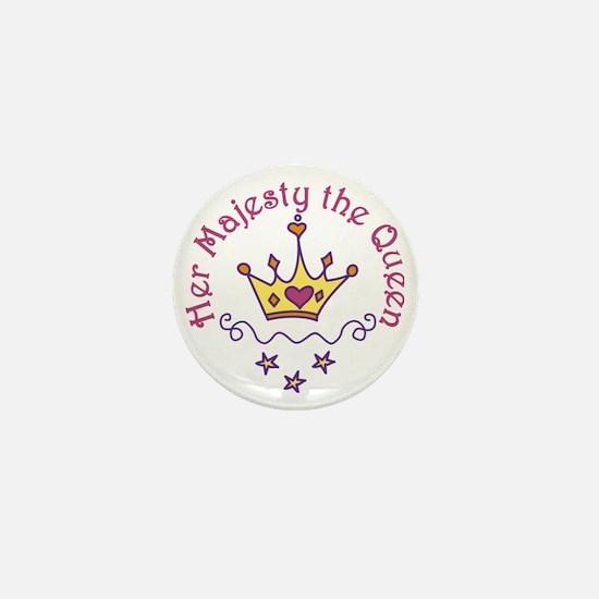 Her Majesty Mini Button