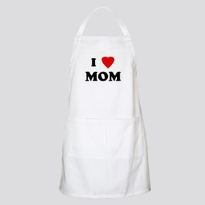 I Love MOM BBQ Apron