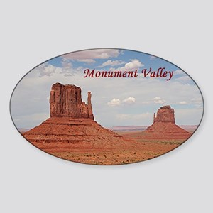 Monument Valley (caption) Sticker (Oval)