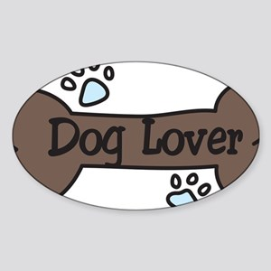 Dog Lover Sticker (Oval)