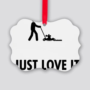 Lawn-Mowing-AAT1 Picture Ornament