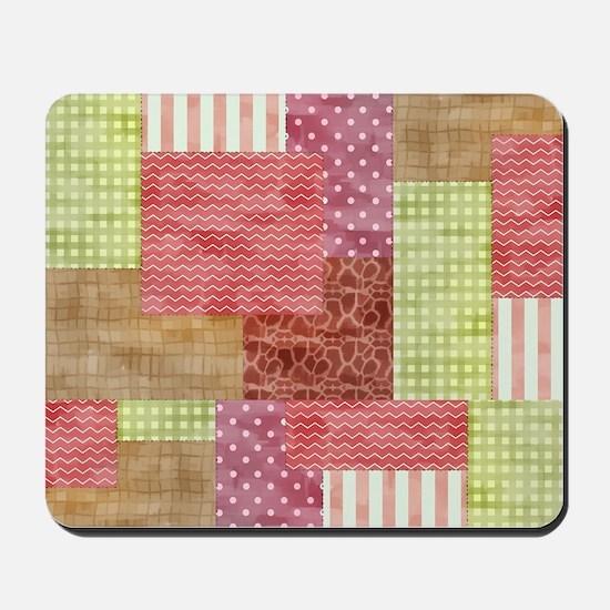 Trendy Patchwork Quilt Mousepad