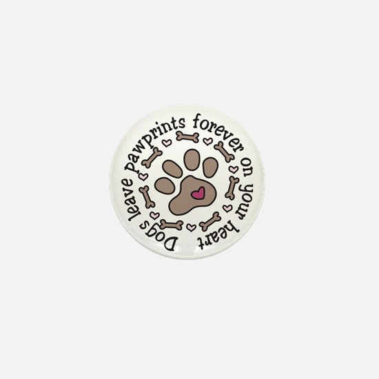 Pawprints Mini Button