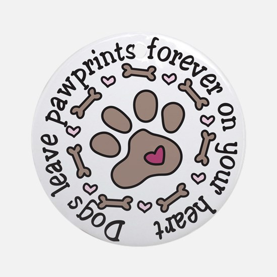 Pawprints Round Ornament