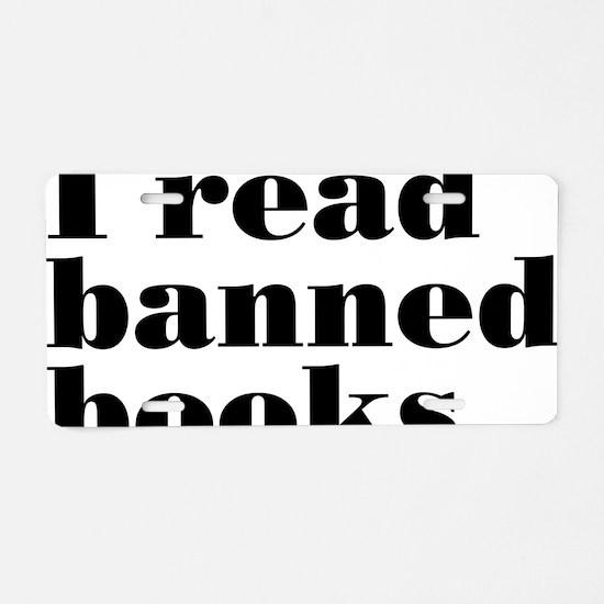 bannedbooksrectangle Aluminum License Plate