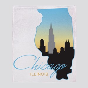 Chicago Illinois Throw Blanket