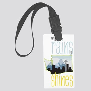 When It Rains It Shines Large Luggage Tag