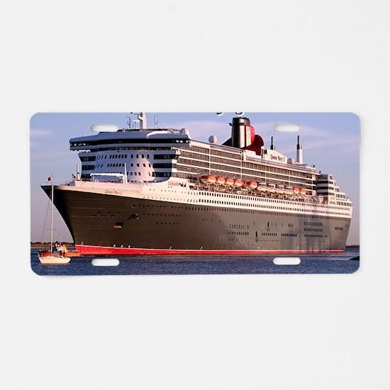 Bon Voyage: cruise ship 2 Aluminum License Plate