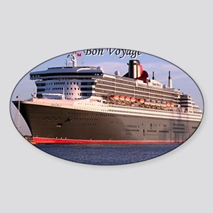 Bon Voyage: cruise ship 2 Sticker (Oval)