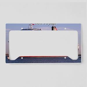 Bon Voyage: cruise ship 2 License Plate Holder