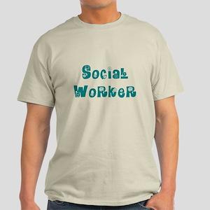 Social Worker Floral Light T-Shirt
