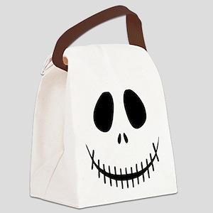 Halloween Skeleton Canvas Lunch Bag