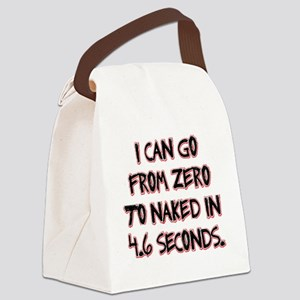Zero to Naked Canvas Lunch Bag