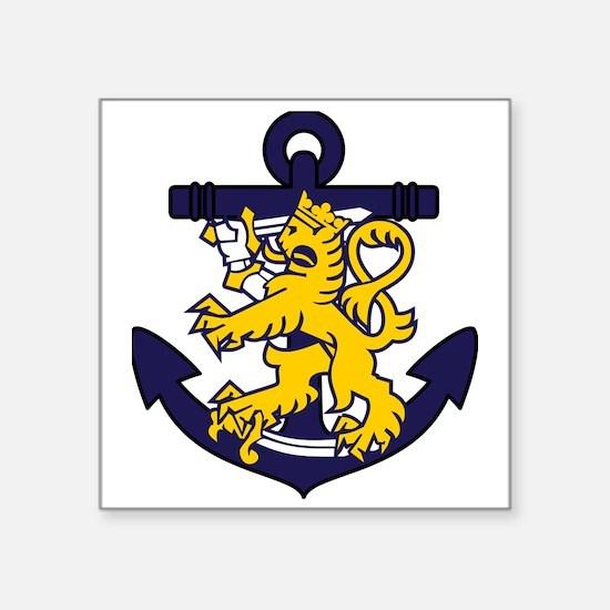 "Finnish Navy emblem Square Sticker 3"" x 3"""