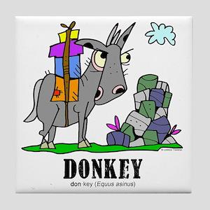 Cartoon Donkey by Lorenzo Tile Coaster