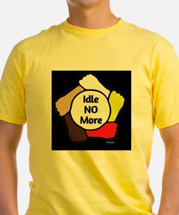 Idle No More - Five Hands (black) T