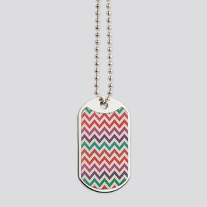 Vintage Color Chevron Dog Tags