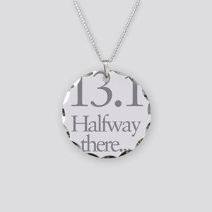 13.1 Running Halfway There Necklace Circle Charm