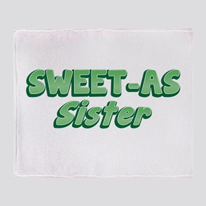 Sweet-as SISTER cool New Zealand funny Throw Blank