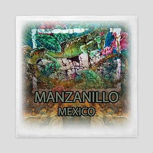 Iguana Manzanillo Mexico Queen Duvet