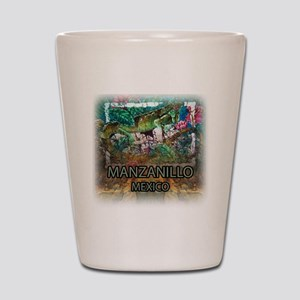 Iguana Manzanillo Mexico Shot Glass