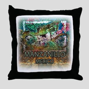 Iguana Manzanillo Mexico Throw Pillow