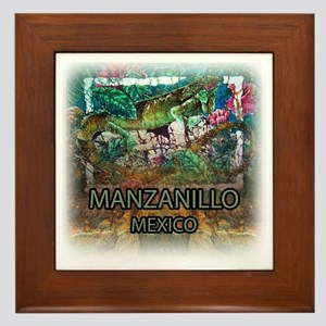 Iguana Manzanillo Mexico Framed Tile