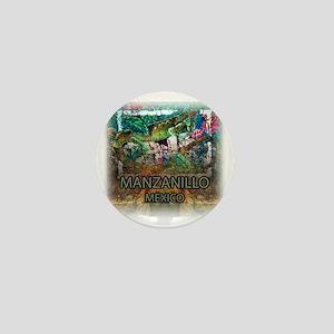 Iguana Manzanillo Mexico Mini Button