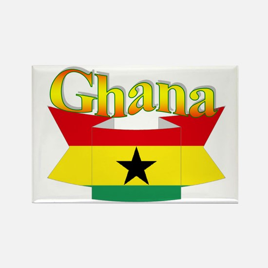 Ghana flag ribbon Rectangle Magnet