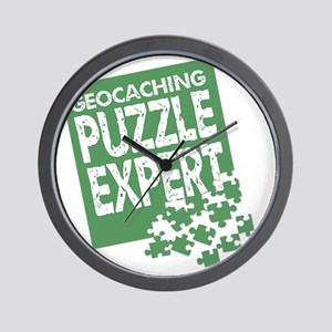 Geocaching Puzzle Expert Wall Clock