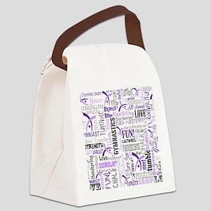 gymnastics pattern 10 x 8 Canvas Lunch Bag