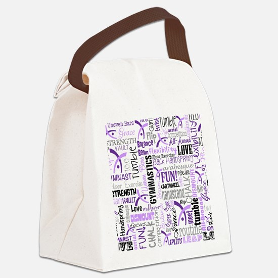 gymnastics pattern 10 x 8 Canvas Lunch Bag