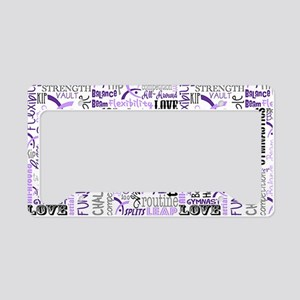 Gymnastics Messenger Bag License Plate Holder