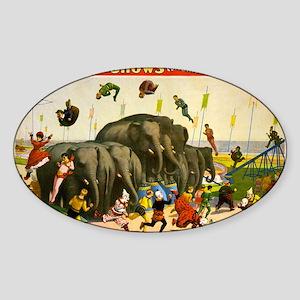 circus Sticker (Oval)