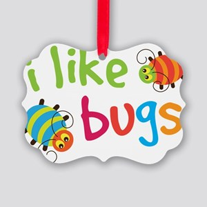 I Like Bugs Kids Picture Ornament