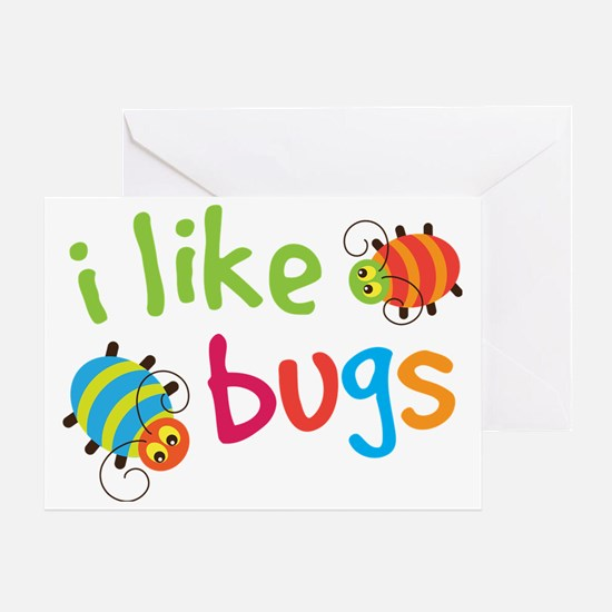 I Like Bugs Kids Greeting Card