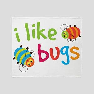 I Like Bugs Kids Throw Blanket