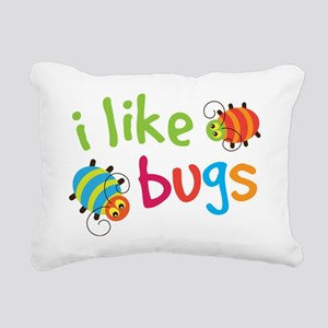 I Like Bugs Kids Rectangular Canvas Pillow