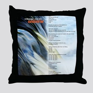 Falling Poem Small Poster Throw Pillow